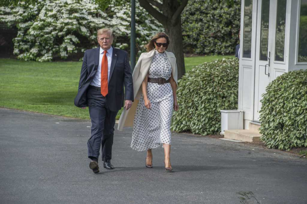 Melania Trump i Donald Trump w drodze do Atlanty