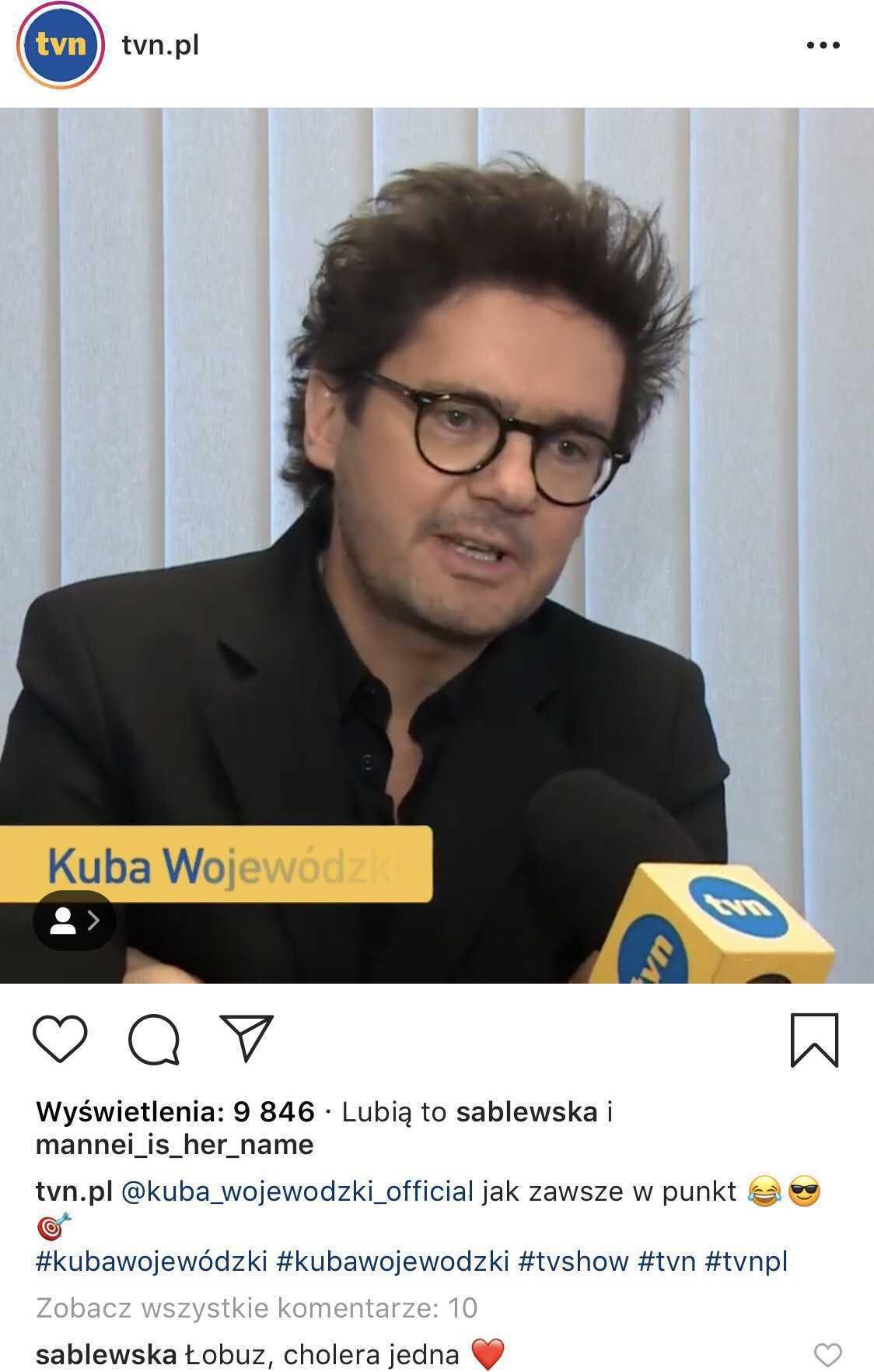 Maja Sablewska zachwyca się Kubą Wojewódzkim