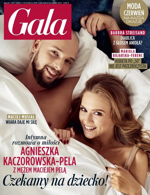 Agnieszka Kaczorowska i Maciej Pela na okładce Gali