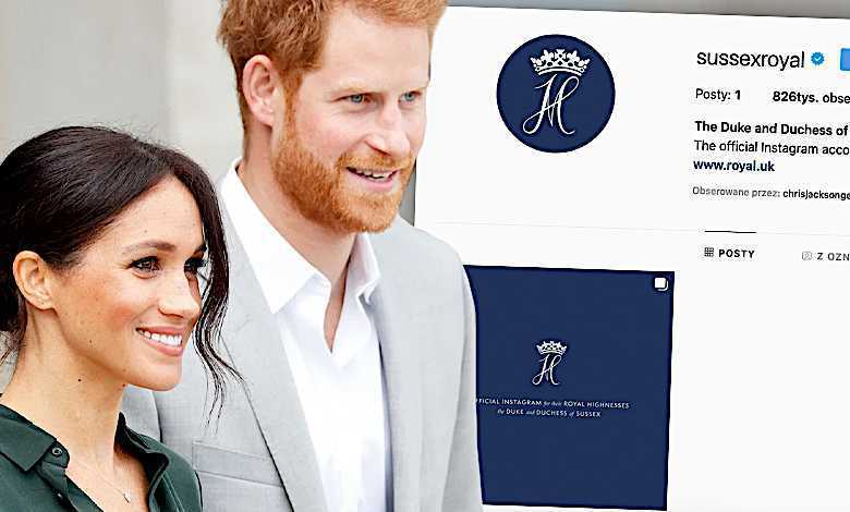 Instagram Meghan Markle i książę Harry