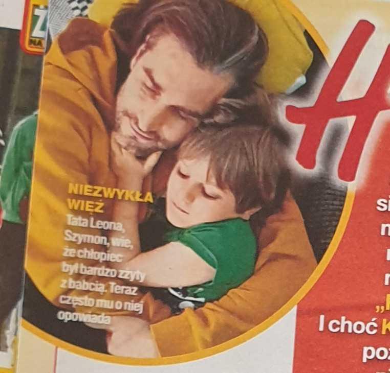 Szymon Sipowicz z synem Leonem (fot. Życie na gorąco, 4 kwietnia 2019)