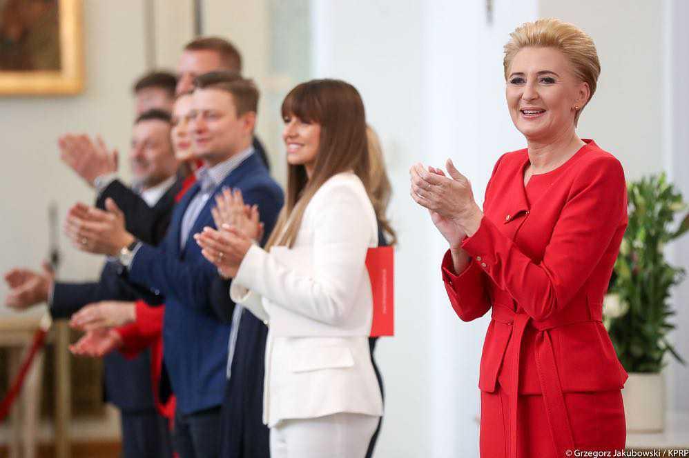 Anna Lewandowska i Agata Duda spotkały się w Pałacu Prezydenckim