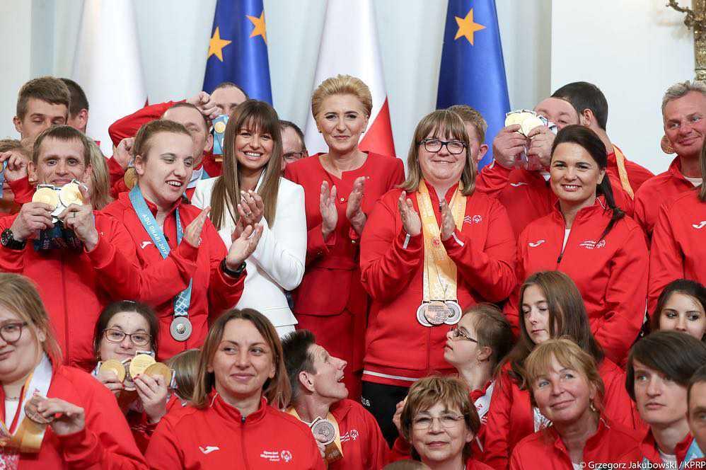 Zdjęcia ze spotkania Agaty Dudy i Anny Lewandowskiej