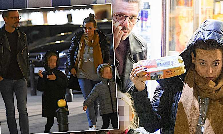 Anna Mucha i Marcel Sora z dziećmi na zakupach