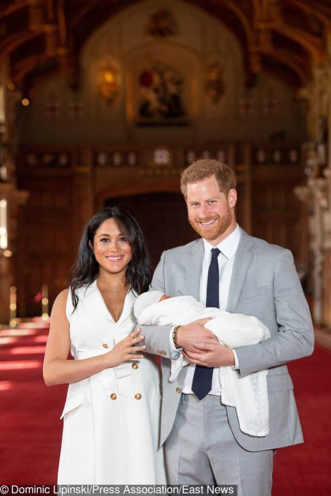 Baby Sussex z Meghan Markle i księciem Harrym