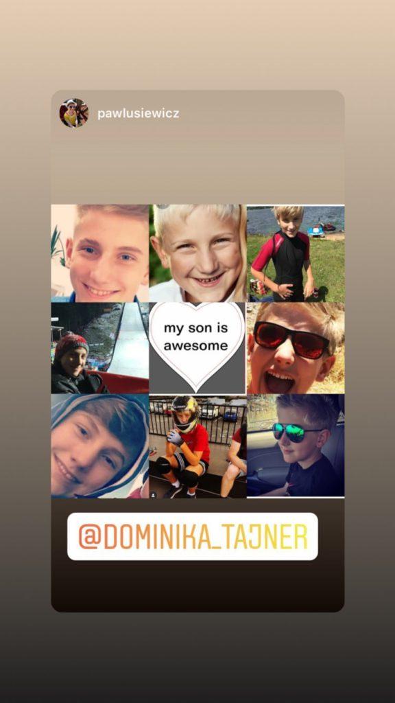 Dominika Tajner-Wiśniewska - kolaż zdjęć syna