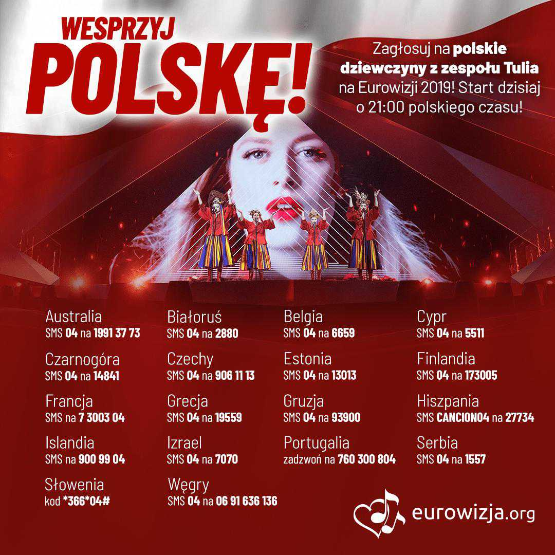 Jak głosować na Polskę w półfinale Eurowizji 2019?