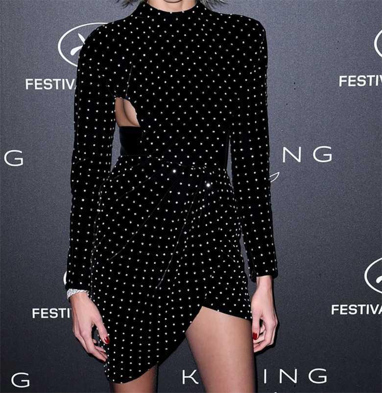 Anja Rubik - sukienka, Cannes 2019