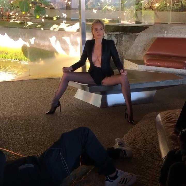 Sharon Stone w sesji dla Vogue Portugal, 2019 rok