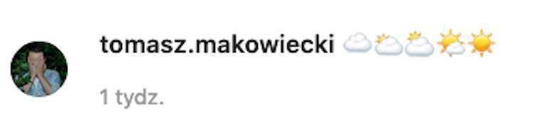 Komentarz Tomka Makowieckiego do zdjęcia tajemniczej kobiety