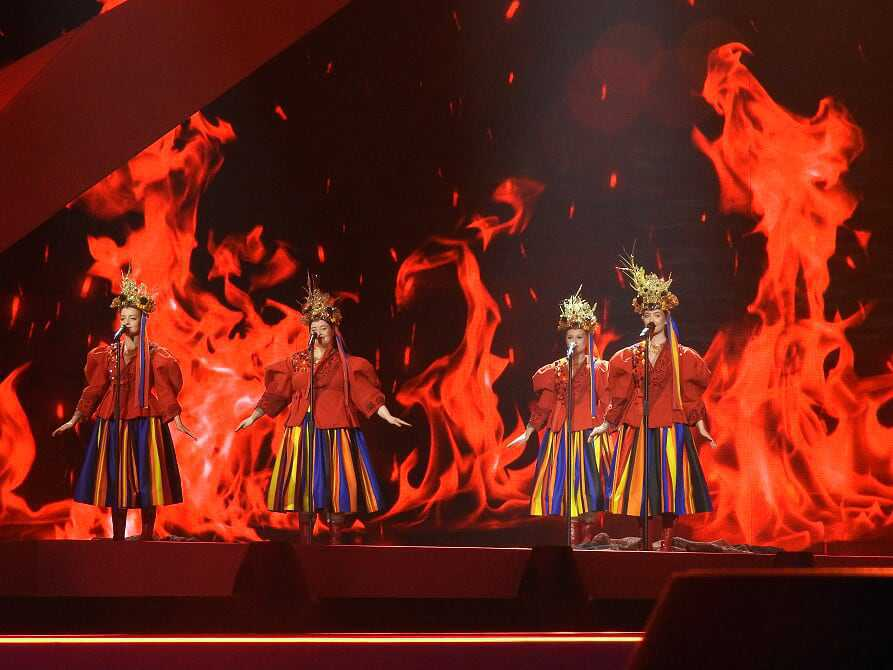 Tulia na scenie w trakcie drugiej próby technicznej – końcówka występu, fot. Aleksandra Wąsek/eurowizja.org