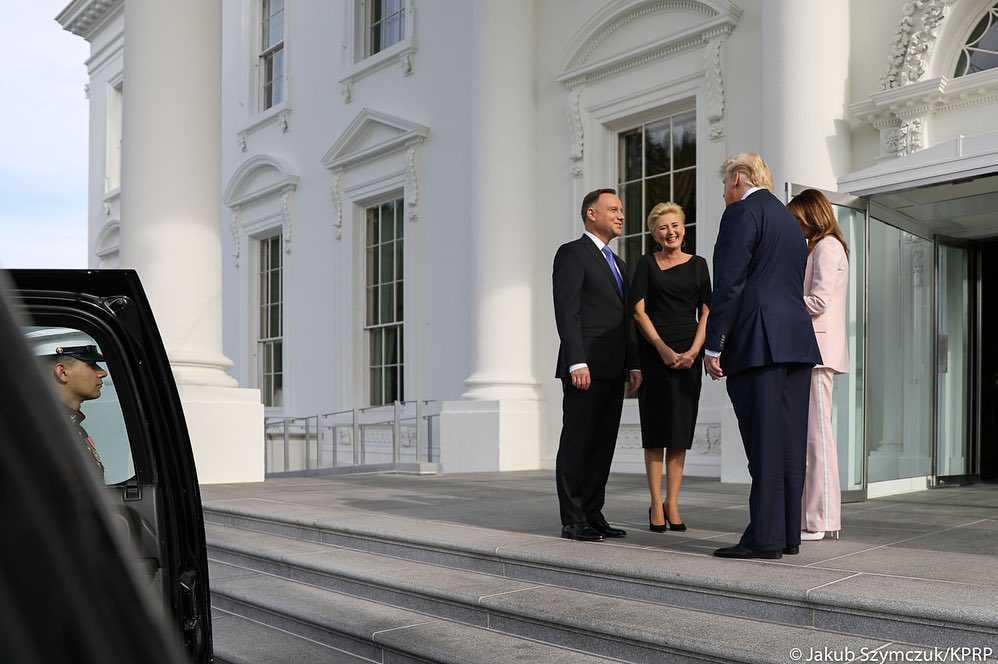 Andrzej Duda, Agata Duda, Melania Trump, Donald Trump