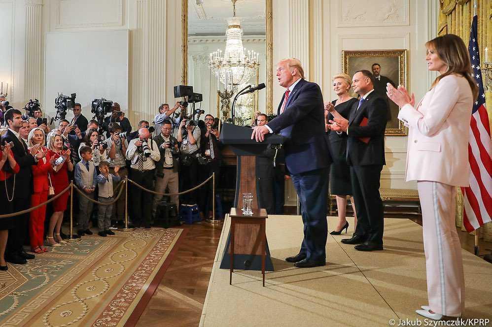 Donald Trump przemawiał podczas bankietu