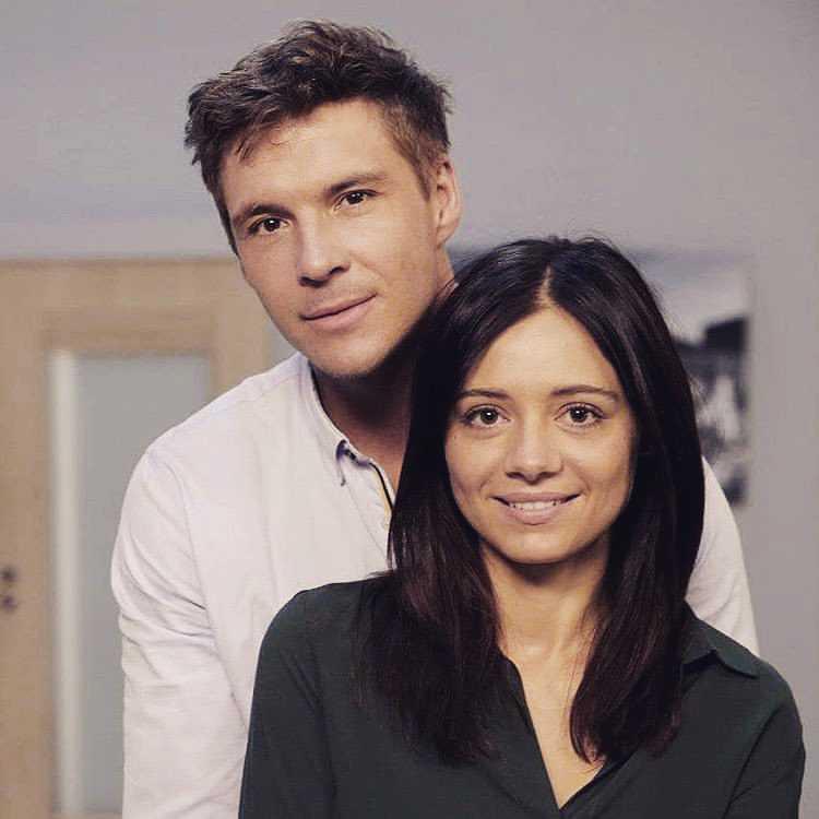Mikołaj Ronzerski i Adriana Kalska na planie M jak miłość