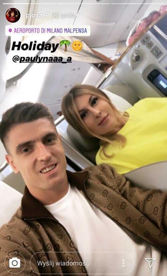 Krzysztof Piątek i Paulina Piątek - Instagram Stories