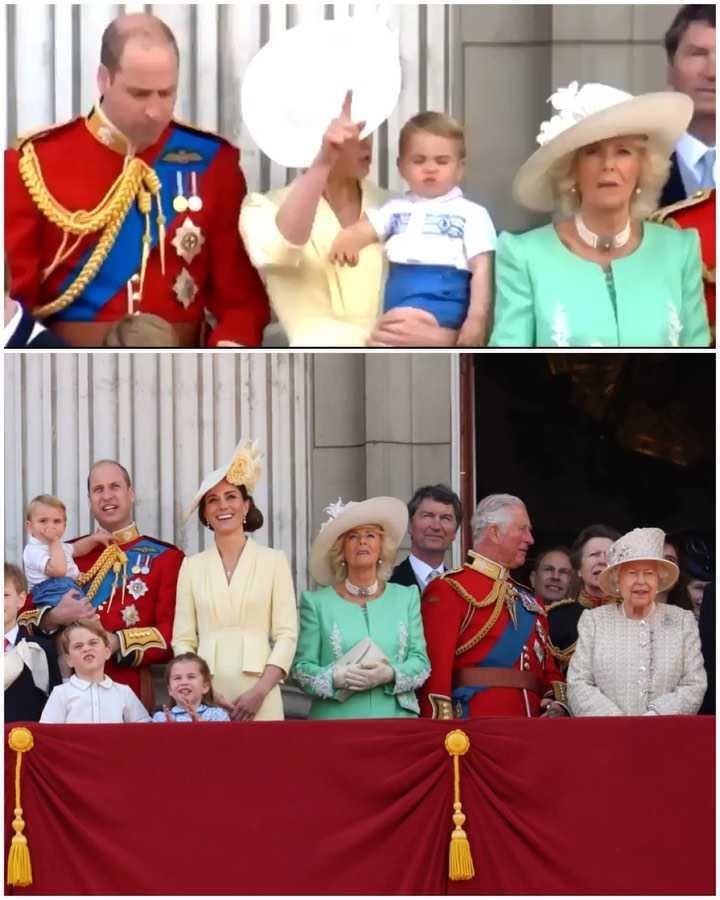 Książę Louis pierwszy raz pojawił się na słynnym balkonie z całą rodziną królewską!