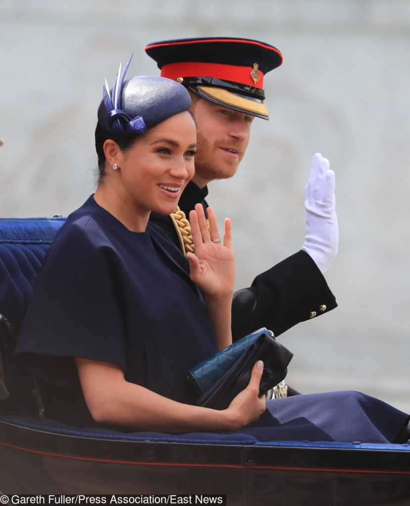 Meghan Markle i książę Harry na Trooping the Colour 2019