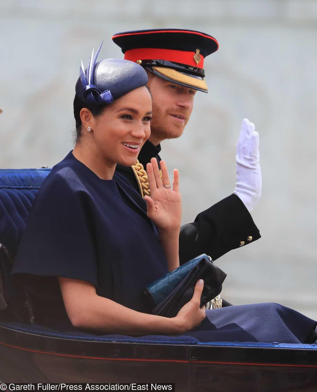 Meghan Markle i książę Harry na Trooping the Colour 2019