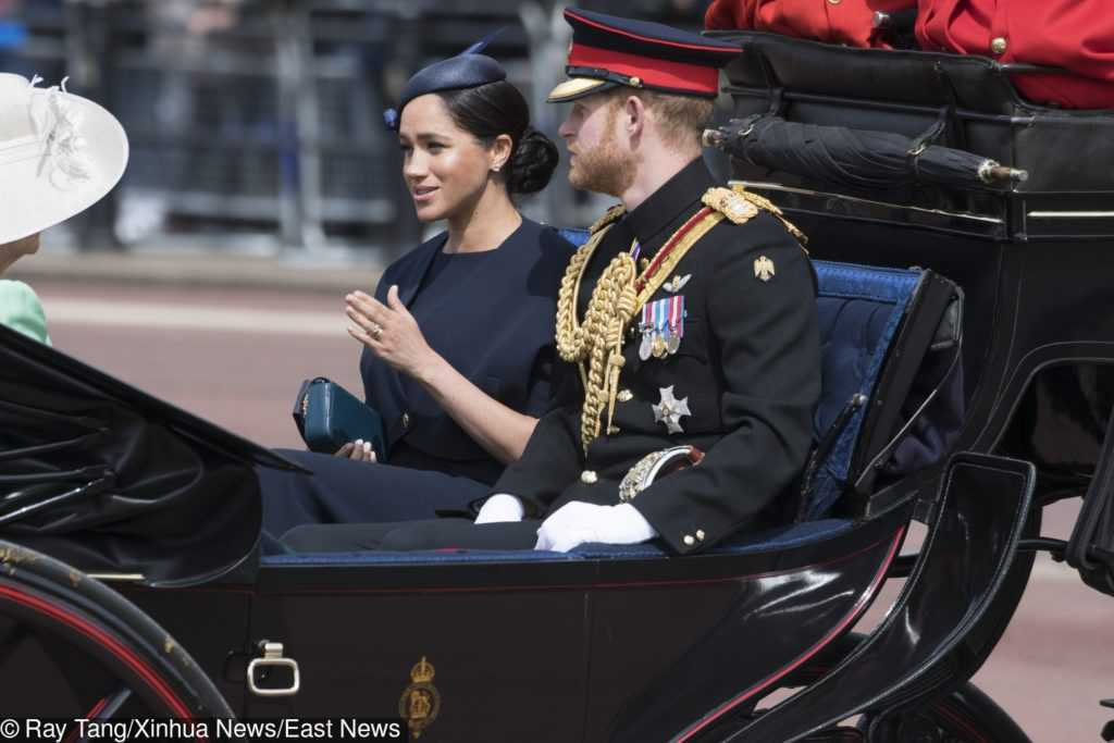 Meghan Markle podczas Trooping the Color