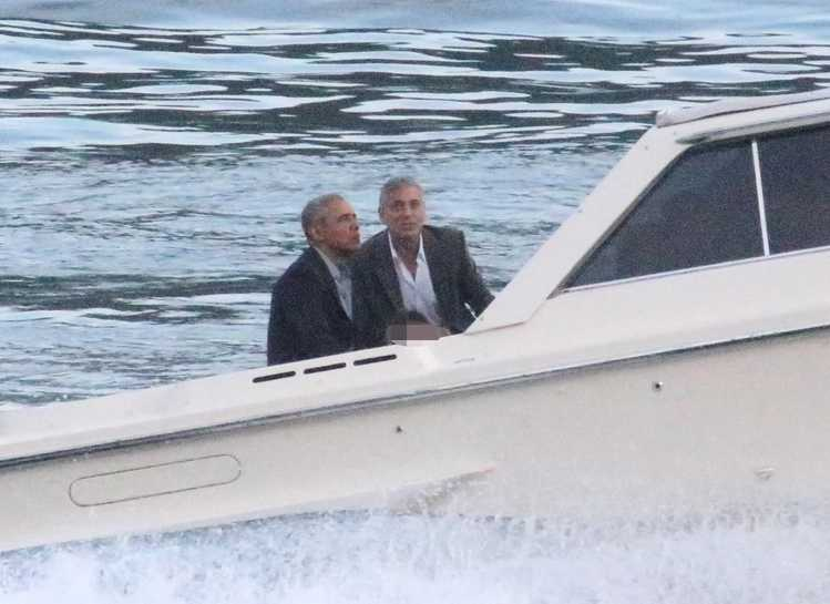 George Clooney i Barack Obama nad jeziorem Como