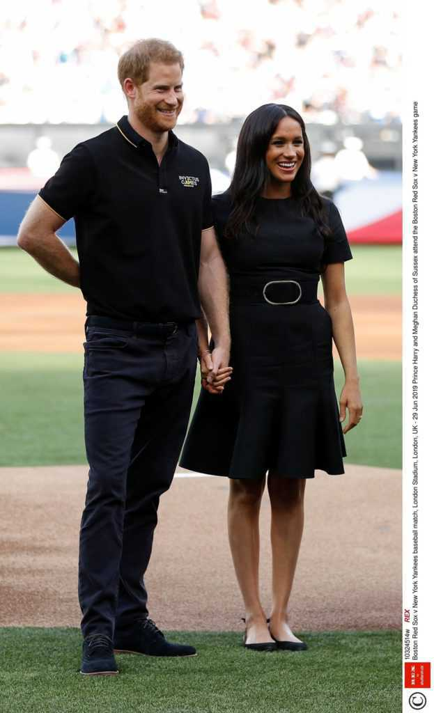 Meghan Markle i książę Harry na meczu baseballowym Boston Red Sox z New York Yankees