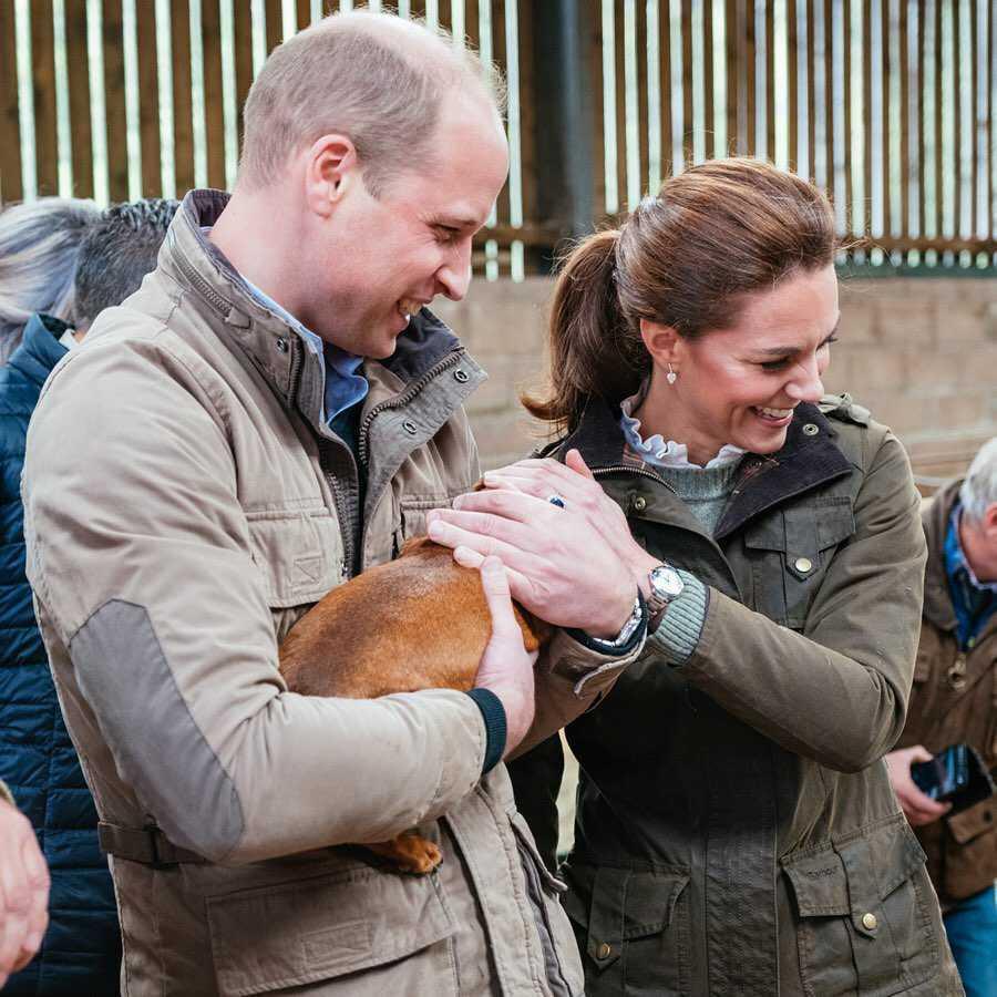 Księżna Kate i William na farmie owiec