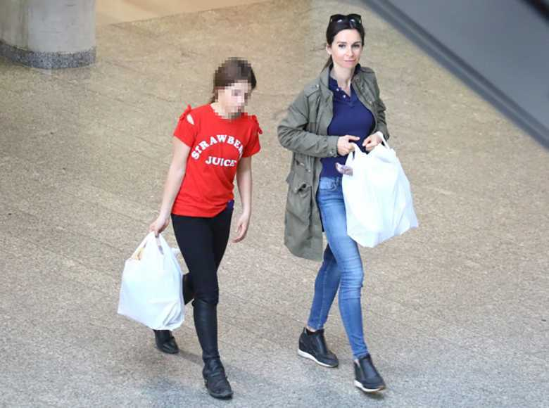Marta Kaczyńska na zakupach z córką