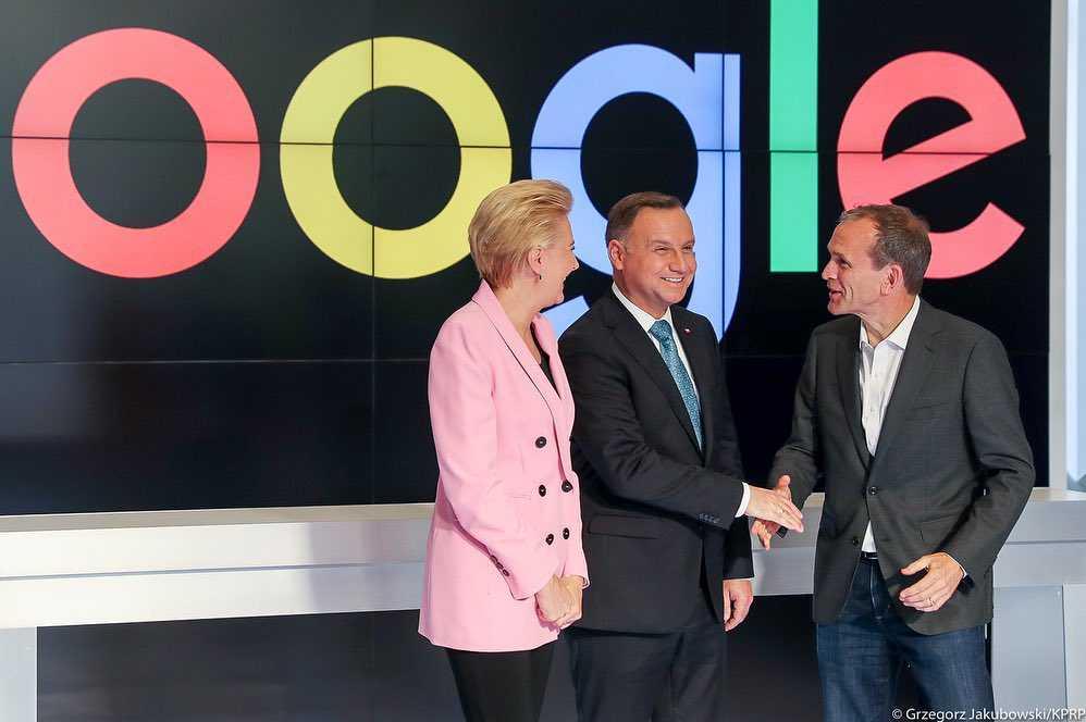 Agata Duda w marynarce z Zary podczas spotkania w siedzibie Google w Kalifornii