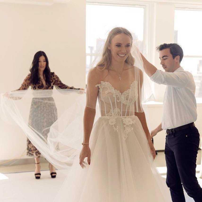 Caroline Wozniacki w sukni ślubnej