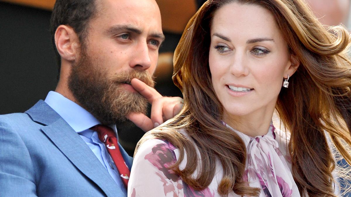 James Middleton i księżna Kate