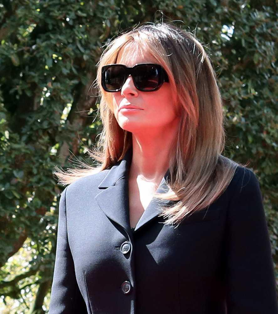 Melania Trump w ciemnych okularach