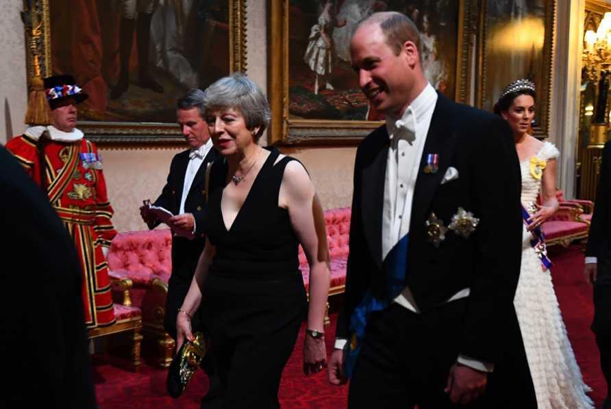 Książę William na bankiecie w pałacu Buckingham