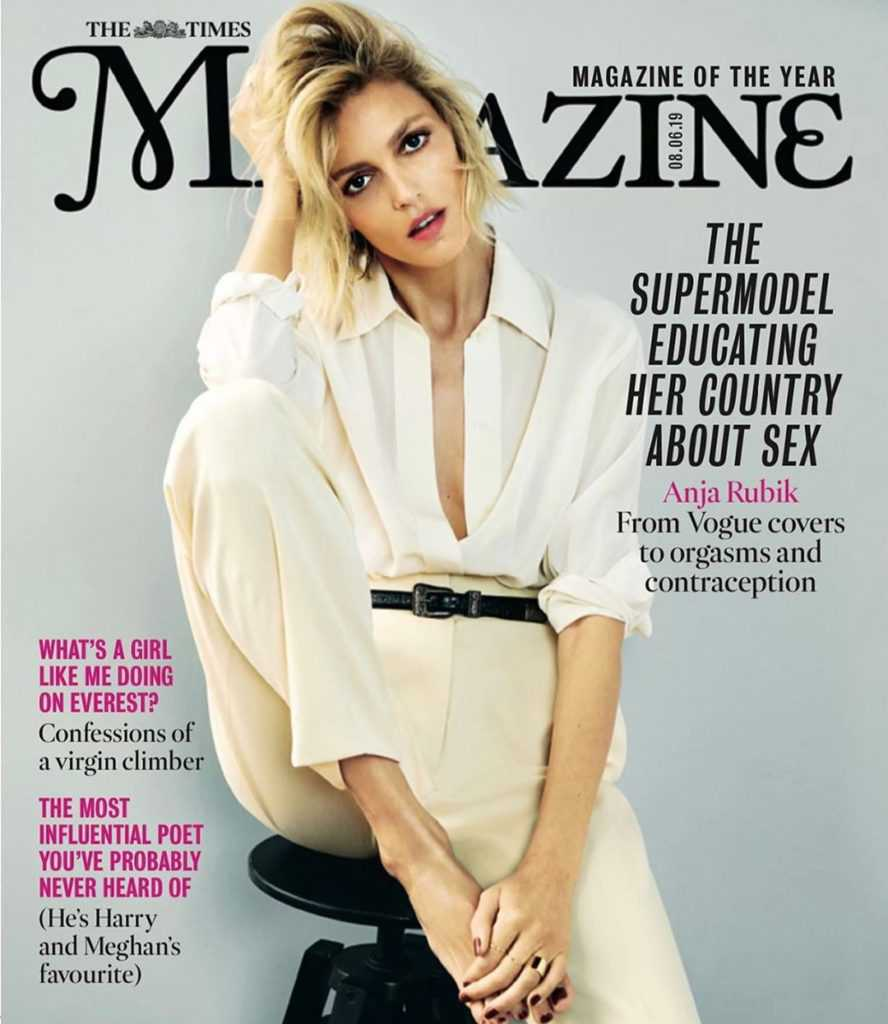 Anja Rubik na okładce The Time Magazine