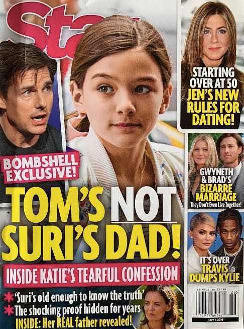 Suri Cruise nie jest córką Toma?