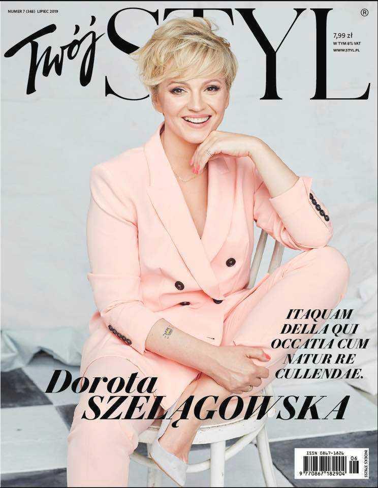 Dorota Szelągowska wrzuciła na swój profil zdjęcia z okładki, przed obróbką graficzną.