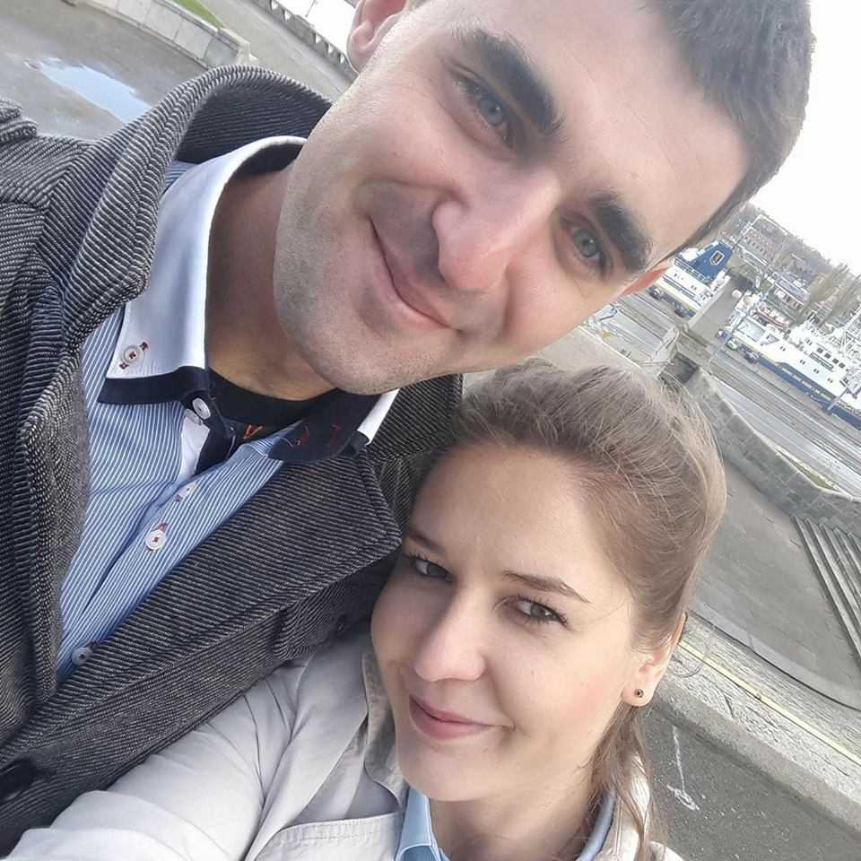 Łukasz Lonka z żonę Edytą - Facebook