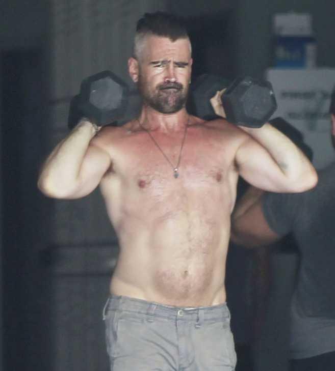 Colin Farrell na siłowni
