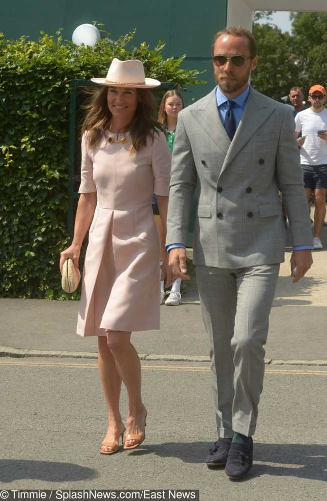 James Middleton i Pippa Middleton na Wimbledonie,
