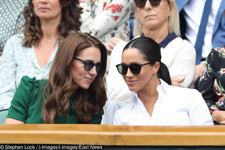 Meghan Markle i księżna Kate jak najlepsze przyjaciółki podczas Wimbledonu