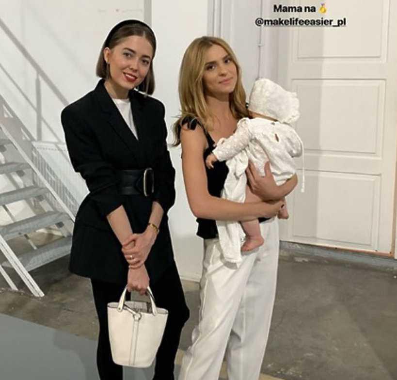 Kasia Tusk zabrała swoją córeczkę na modowy event