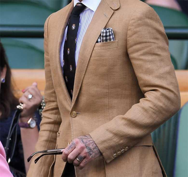 David Beckham w dobrze skrojonym garniturze