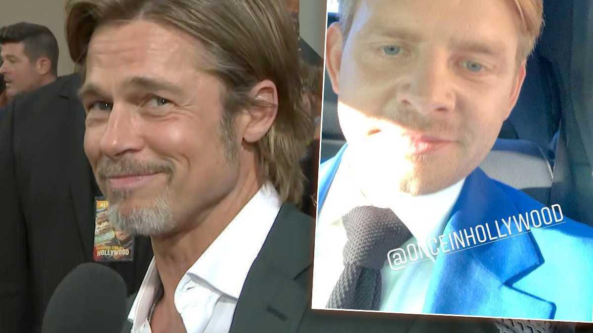Brad Pitt i Rafał Zawierucha