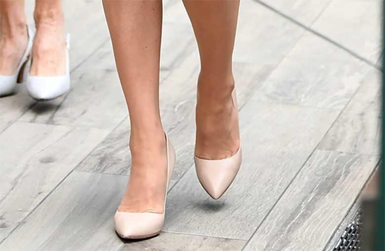 Księżna Kate w jasnych butach, Wimbledon 2019