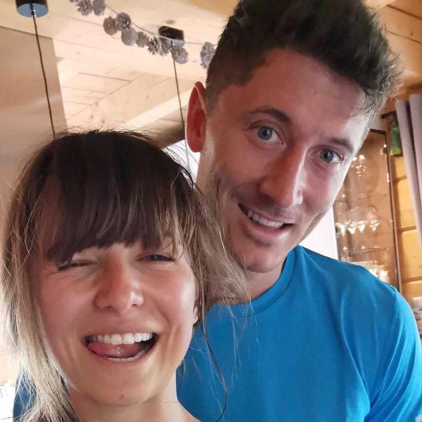 Anna Lewandowska i Robert Lewandowski trenują razem