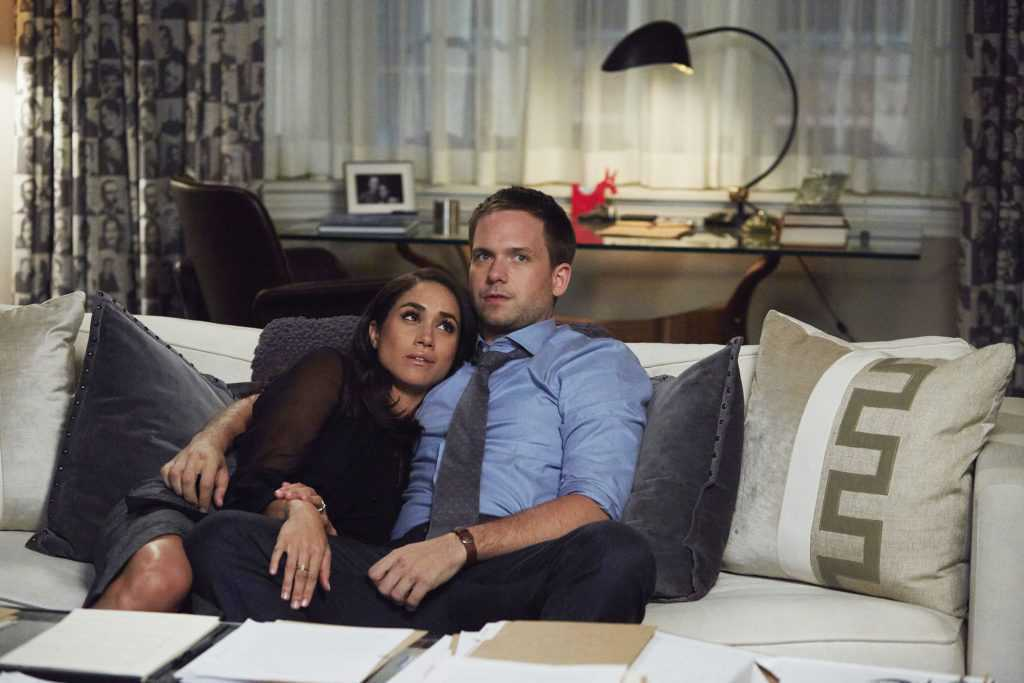 Patrick J. Adams i Meghan Markle na planie The Suits