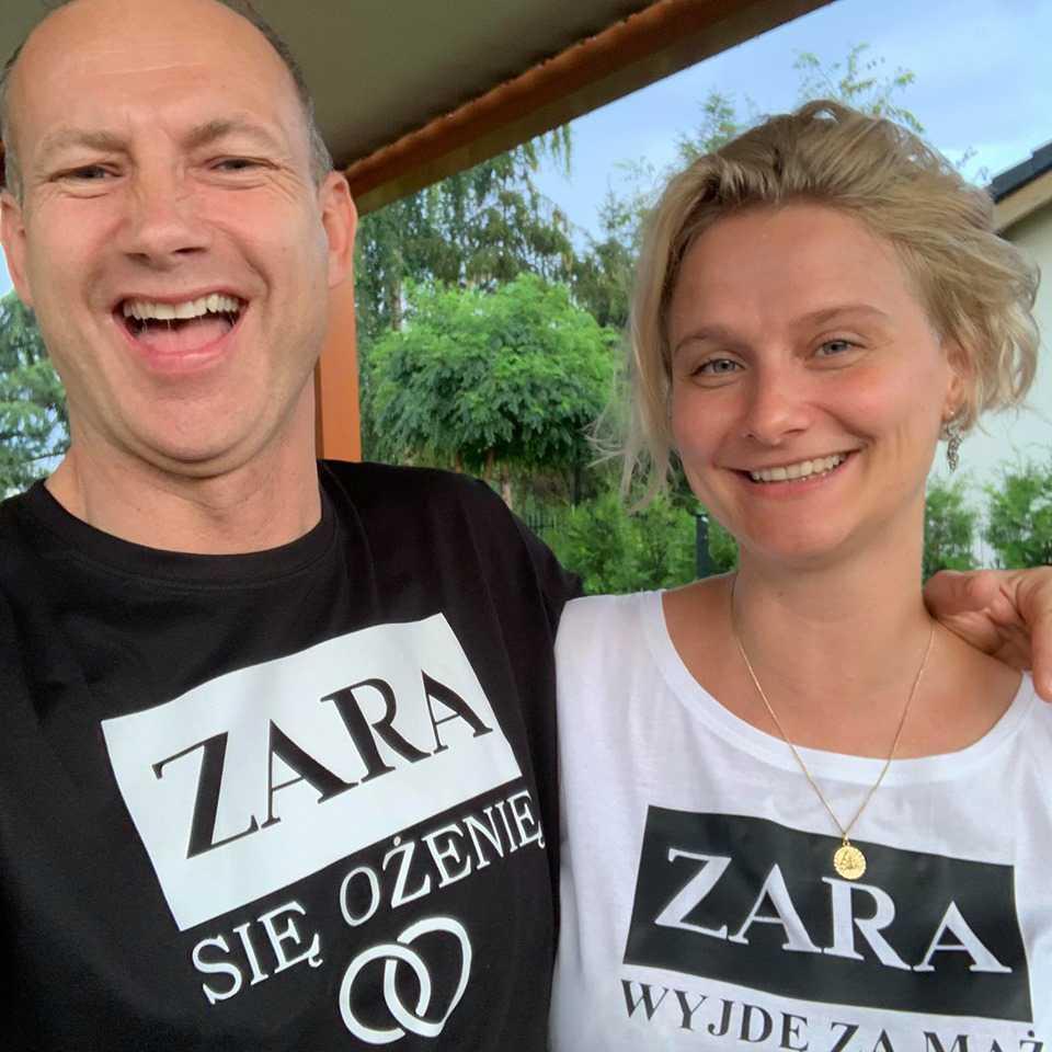 Magda Wałęsa i Lech Kaźmierczyk