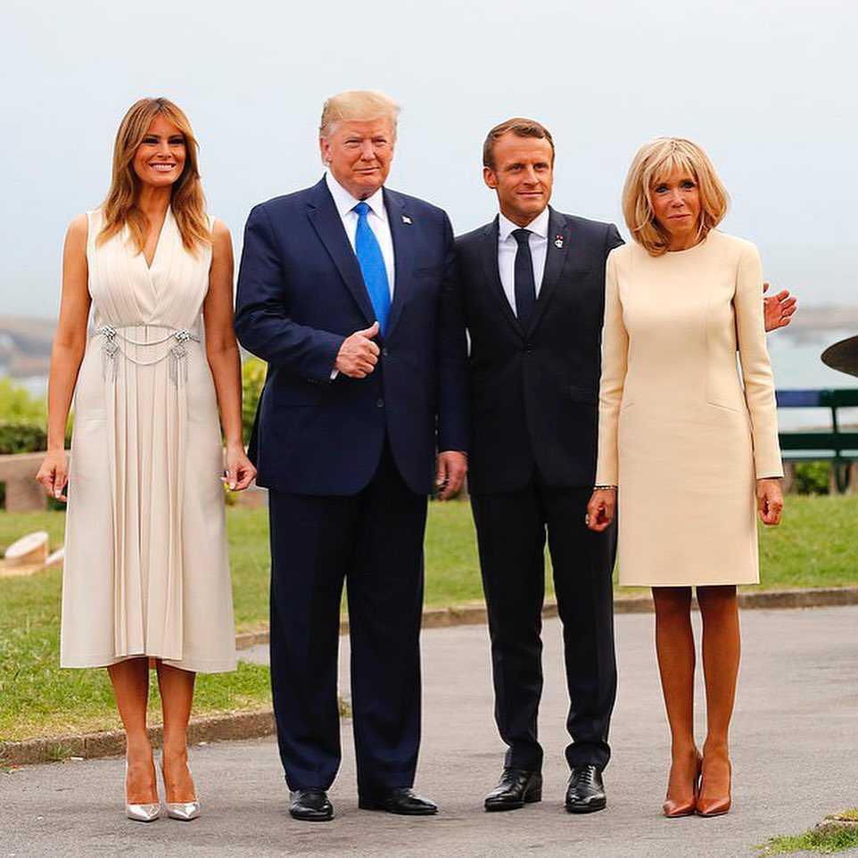 Melania Trump i Donald Trump - gośćmi pary prezydencjej z Francji