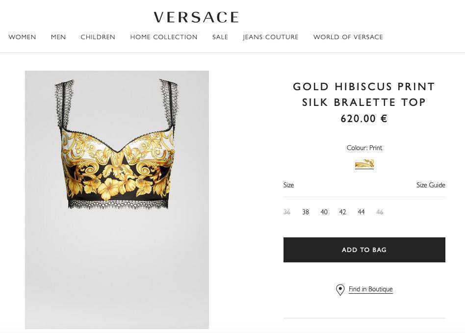 Top Versace, który ma Irina Shayk