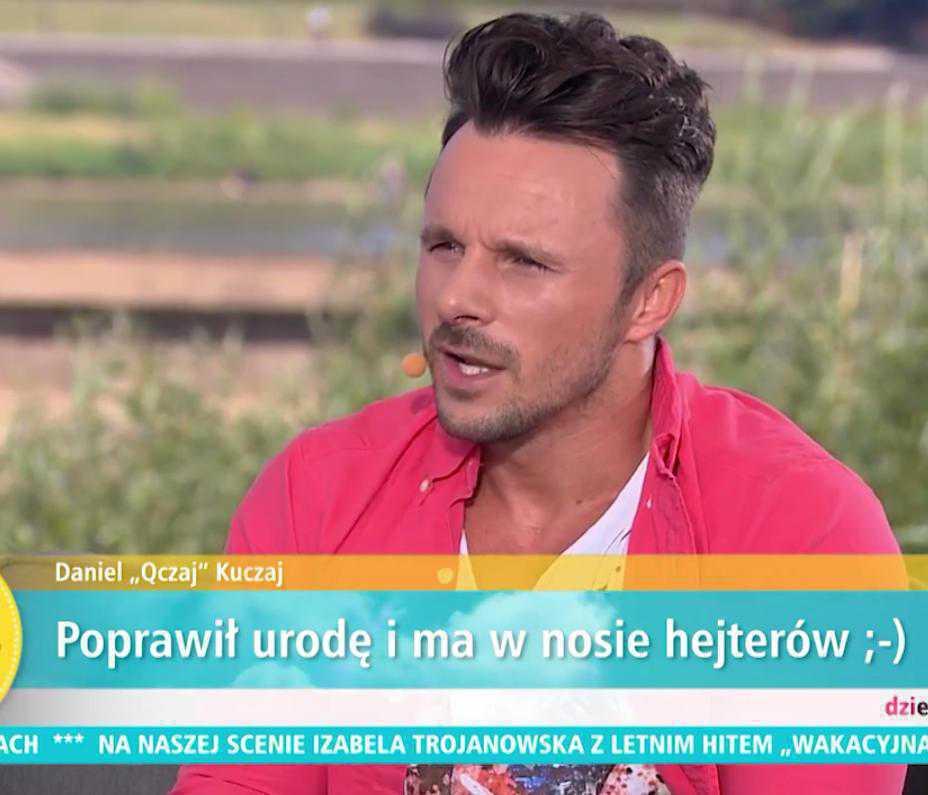 Daniel Kuczaj po operacji plastycznej nosa