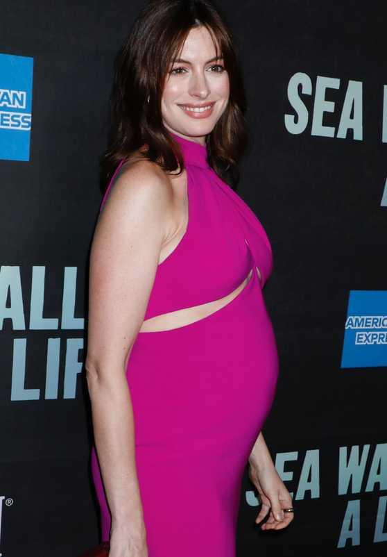 Zdjęcie (2) Anne Hathaway pokazała duży ciążowy brzuszek na salonach! Już bardziej sexy nie mogła wyglądać!